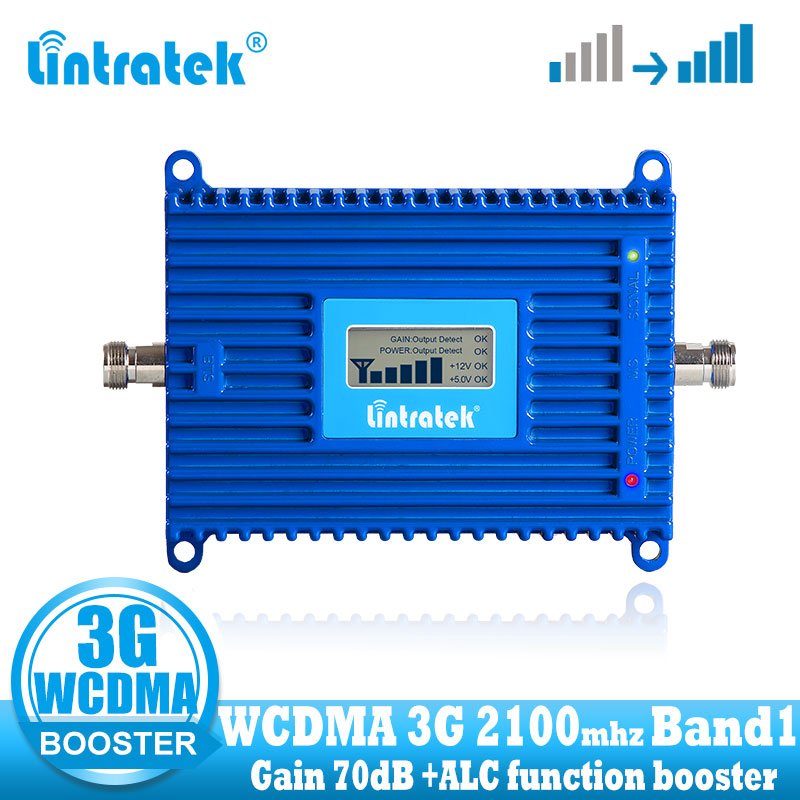 Lintratek Gain 70dB 2100  (LTE Band 1) UMTS Mobile Signal Booster 3G (HSPA) WCDMA 2100MHz Signal Cellular Repeater Amplifier