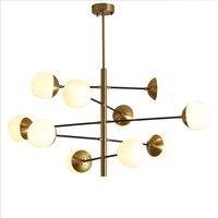 Modern Glass Magic Bean Golden Bubble Ball Pendant Lamp Fixtures Suspension Luminaire