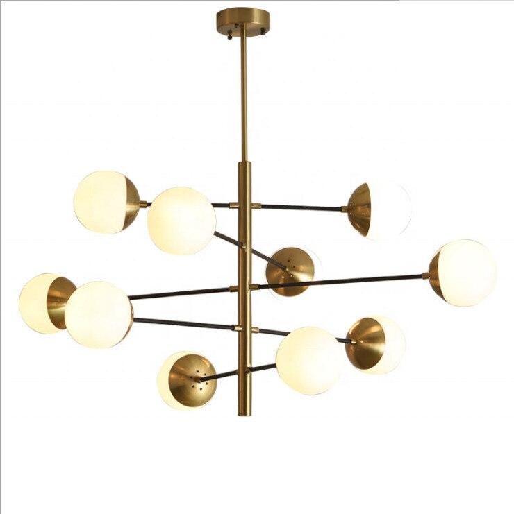 Moderne verre magique haricot doré bulle boule Suspension luminaires Suspension Luminaire