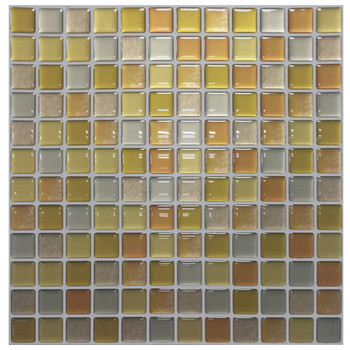 Mosaic Wall Tile Peel and Stick  Self adhesive Backsplash DIY Kitchen Bathroom Home Wall Sticker Vinyl 3D 15