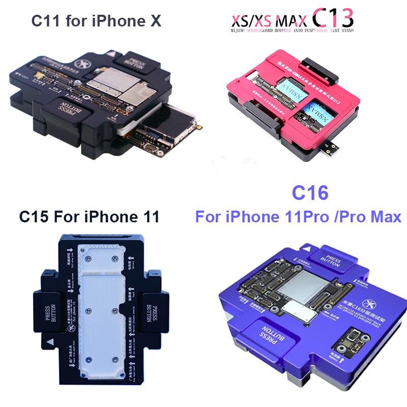 Mijing C11/C13//C15/C16 for iPhone 11/11Pro /11Pro Max/XS Max/XS/X Logic Board Diagnostic Test Fixture Main Board Test Platform