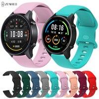 Correa de silicona para reloj Xiaomi Mi Watch, repuesto de Color de 22mm para Huami Amazfit GTR 2 2e/GTR 47mm