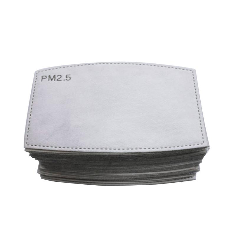 20/50/100pcs Multi Layer PM2.5 Adults Filter Paper Haze Mouth Mask Anti Fog Dust Mask Square Arc Active Carbon Mask Filter
