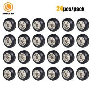 Image 1 - 12/24 pièces CNC openbuild roue POM en plastique avec 625zz roue de poulie ronde Passive/v slot Perlin roue de poulie pour CR10 Ender 3