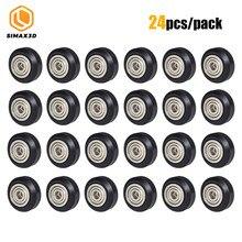12/24 шт. ЧПУ Openbuilds пластиковое колесо POM с 625zz направляющим шкивом, пассивное круглое/V-образное шкивное колесо Perlin для CR10 Ender 3