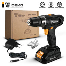 DEKO GCD20DU5 18V 18Volt Max Electric Screwdriver Cordless Drill Mini Power Driver DC Lithium-Ion Battery 2-Speed(China)