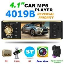 цена на 4.1 Inch One Din MP3 Player Car Radio Audio USB AUX FM Radio Station Bluetooth Rearview Camera Remote Control car accessories