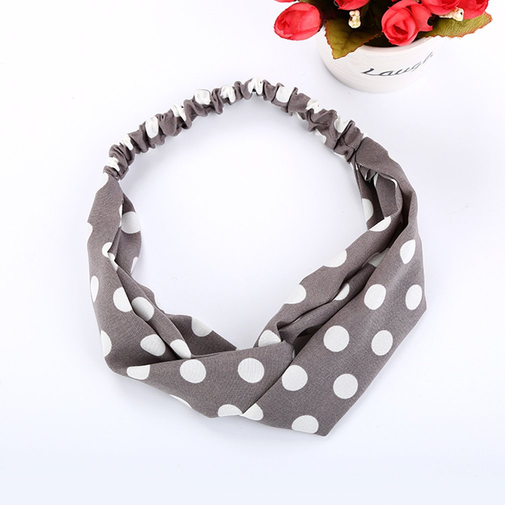 Women Girls Dot Headband   Headwear   Multifunction Magic Scarf Head Wrap Sport Sweatband Workout Yoga For Sport & Casual