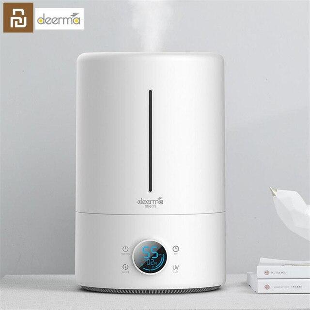 Humidificador de aire Youpin Deerma, 5L, versión táctil, inteligente, constante, humedad, UV, LED, 12H, temporizador, silencioso, purificador de aire