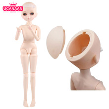 45CM Nude Body 1/4 BJD Dolls Can Be Changed Eyes 18 Ball Joints Doll Body Without Outfits Accessories For Girls Dress Up Makeup