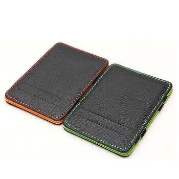 KUDIAN BEAR Minimalist Men Wallet Rfid Slim Wallet Card Organizer Purse Magic carteras hombre Minimalista BID222 PM49