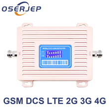 2018 New Arrival Dual band GSM 900 4G LTE 1800 Repeater GSM 1800mhz Mobile Signal Booster 65dB Repetid not include antenna