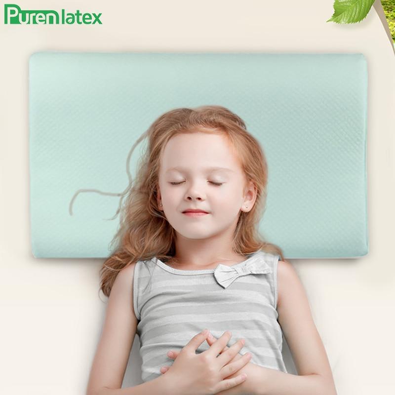 Подушка для сна Purenlatex, ортопедическая поддержка шеи с эффектом памяти, для детей 3-10 лет