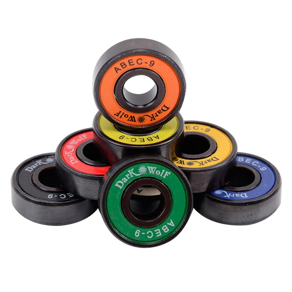 8 Pcs 22mm Premium Standard 608 Bearings For Double Rocker Skateboard Longboard Quad Skates Scooters Sports Parts Accessories