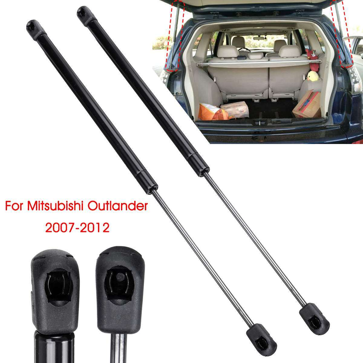 TAYDMEO Support rod,2pcs Rear Window Glass Tailgate Boot Trunk Struts Support Rod Holder For Fiat 500 2007-2017 51785412