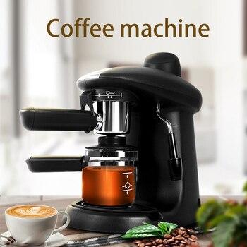 Espresso machine full semi-automatic small steam type home freshly made coffee maker Cost-effective espresso machine