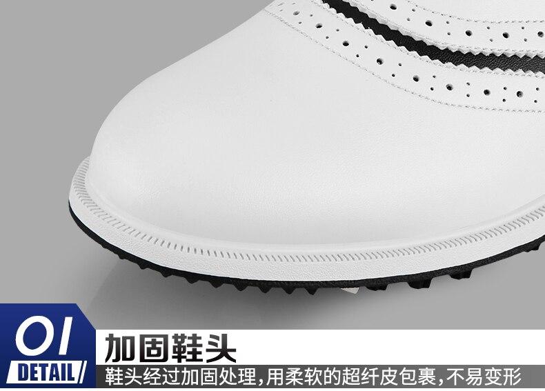 Новинка 2020 года; Мужская нескользящая обувь из водонепроницаемого материала; мягкая микрофибра; кожа; дышащие; нескользящие; белые туфли с ш... - 5