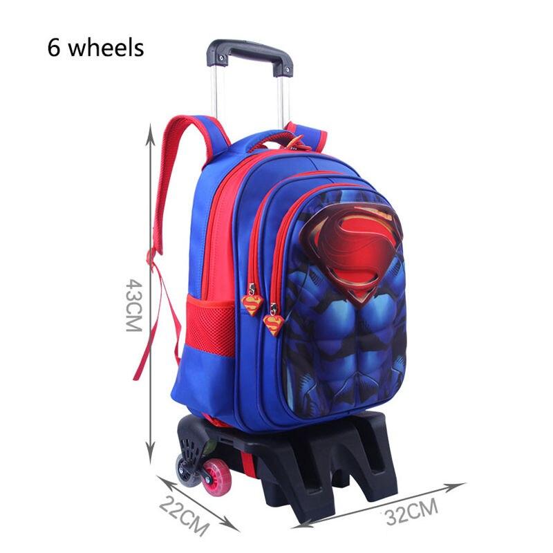 Mochila de viaje para niños en 3D, mochila con ruedas, mochila con ruedas para niños, mochila con ruedas para la escuela - 2