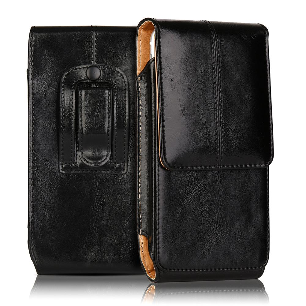 PU Leather Pouch Cover waist bag For <font><b>iphone6</b></font> 6s 7 8 plus Magnetic Vertical Holster 4.7/5.5