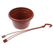 Home Garden Balcony plant pots String Decoration Wall Art High Quality Hanging Flower Plant Pot Chain Basket Planter Holder(China)