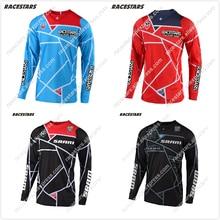 цена на NEW RACESTARS Racing Motorcycles Clothes Riding Jersey MX MTB Off Road Mountain Bike DH Bicycle Moto Jersey ATV DH BMX Motocross