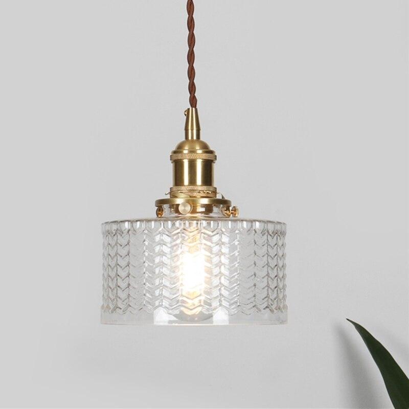 Lampe suspendue nordique décor intérieur clair motif d'eau vert lustres en verre soufflé à la main