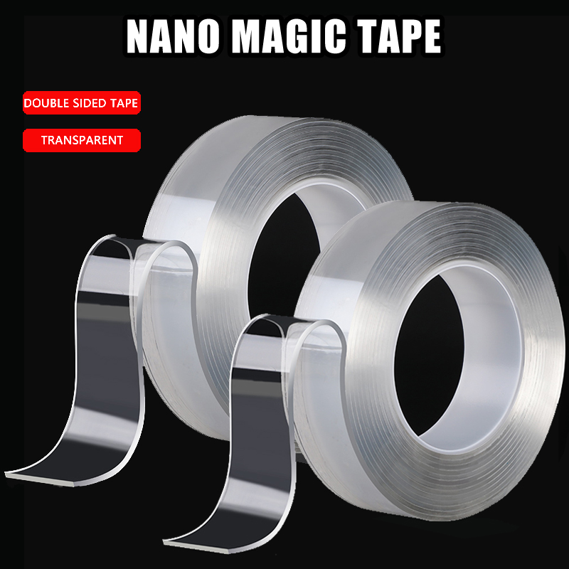 Nano Magic Tape 3m Double Sided Tape Washable Reuse Nano Tape Traceless Double Sided Waterproof Adhesiva Tape Duct Tape