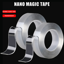 Nano Magic Tape 3m Double Sided Tape Washable Reuse Nano Tape Traceless Double Sided waterproof Adhesiva Tape Duct tape double sided duct tape 50m heat resistance tape mounting tape width 12mm