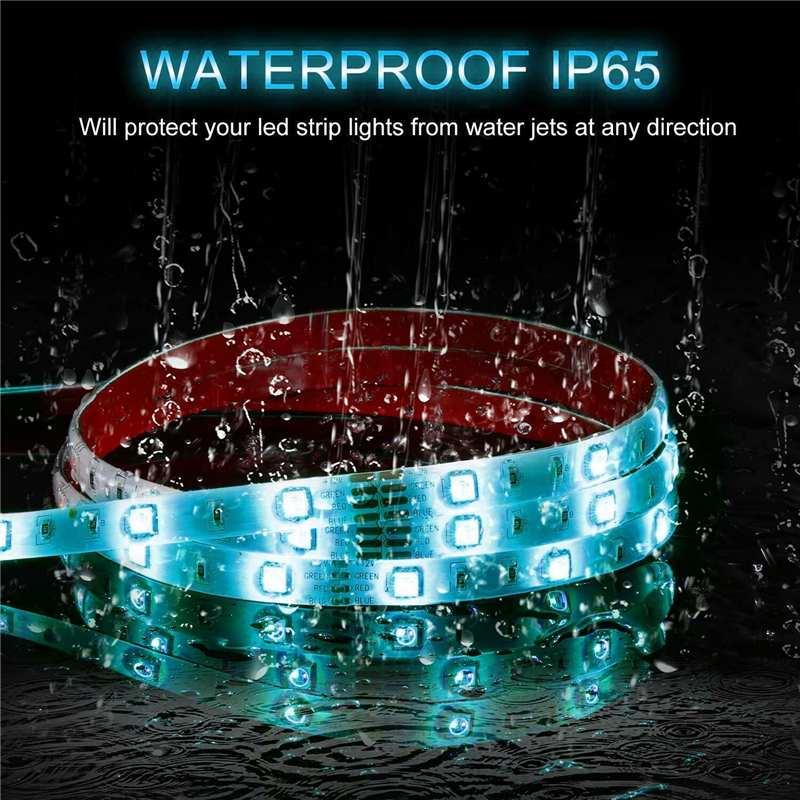 lowest price WIFI Controller RGB LED Strip Light SMD 2835 5M Waterproof RGB Tape DC12V Ribbon Diode Led Strip Light Home DIY Decoration Lamp