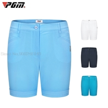 Pgm Woman Casual Golf Shorts Summer High Elastic Shorts Ladies Breathable Soft Pants Stretch Sports Trousers Golf Clothing