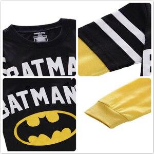 Image 4 - Batman Superman karikatür çocuklar uzun kollu erkek T Shirt pamuklu üst giyim Slim Fit Tee Ropa Bebe Tshirt sonbahar Camiseta çocuk giysileri