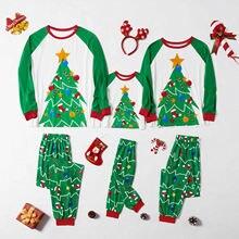 """Рождественские пижамы """"деревья"""" комплекты одинаковой"""