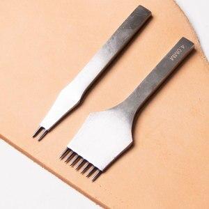 Image 5 - Инструменты для обработки кожи Junetree, ремесла «сделай сам», дырокол для шитья, Дырокол с расстоянием 3 мм/4 мм, 2 + 7 зубцов