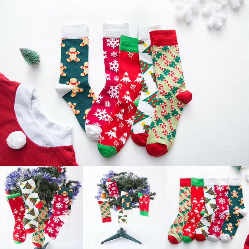 Christmas Ladies Mens Soft Fluffy Socks Warm Winter Cosy Lounge Bed Socks Xmas