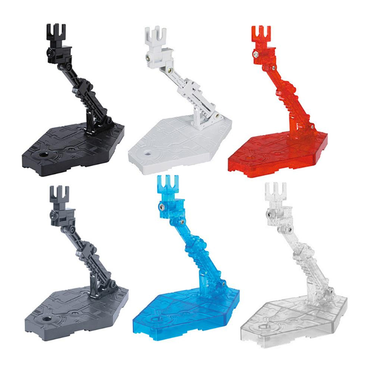 5PCS Universal Adjustable Action Figure Doll Model Support Display Stand Holder Base Bracket for RG HG SD <font><b>BB</b></font> <font><b>Gundam</b></font> 1/144 Toy image