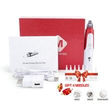 Байонет Дерма ручка иголочный картридж NeedleTips отслаивается, уменьшает поры, устройство Электрический Микро прокатки Dr ручка штамп терапия по уходу за кожей