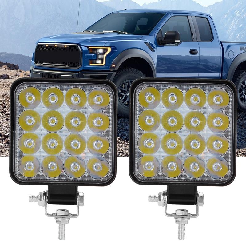 OKEEN Mini 16LED 27W 48W LED Work Light Bar Square Spotlight 12V 24V Offroad LED Light Bar For Truck Offroad 4X4 4WD Car SUV ATV 3