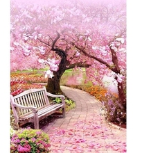 5d Diamond Painting Landscape Mosaic Scenery Full Square Diamond Embroidery Cherry Tree Picture Of Rhinestone Home Decor gift 5d diamond painting landscape mosaic scenery full square diamond embroidery cherry tree picture of rhinestone home decor gift