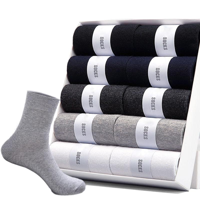 2020 Brand New Men's Cotton Socks For Man Black Business Breathable Spring  Summer Male Crew Socks Meias Hot Cheap Price Sokken