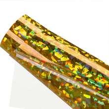 Голограмма теплопередача виниловая Алмазная Золотая htv Железная