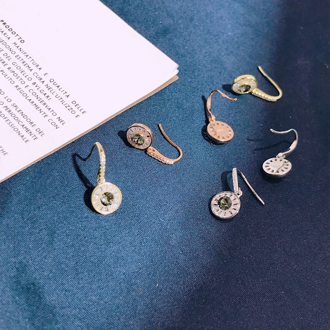 Купить с кэшбэком 925 Sterling Silver Original Women Luxury Hook Stud Earrings Inlaid Shiny Zircon Beautiful Pupil Charm Evil Eye Multi Colorful