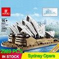 2989 pçs 88003 conjunto de especialistas criador sydney opera house compatível 10234 blocos de construção tijolos presentes natal arquitetura