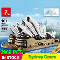 2989pcs 88003 Expert Set Creator Sydney Opera House Compatible 10234 building blocks bricks christmas gifts Architecture