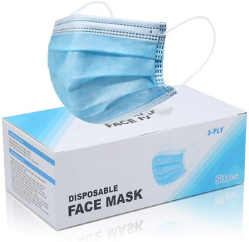 10/20/50 pcs Disposable Face Masks 3 Layers Dustproof Mask Facial Protective Cover Masks Anti-Dust Bacteria Proof Flu Face Mask