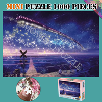Landscape Jigsaw Puzzles Trains In The Star Sky Puzzle 1000 Pieces Wooden Puzzles for Adults Assembling Toys Mini Puzzle Games
