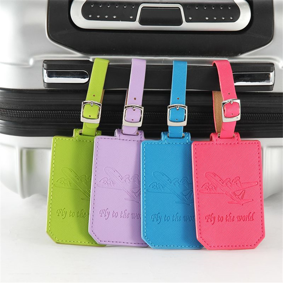 Jiexi Airplane Suitcase Leather Luggage Tag Label Bag Pendant Handbag Travel Accessories Name ID Address Tags LT09