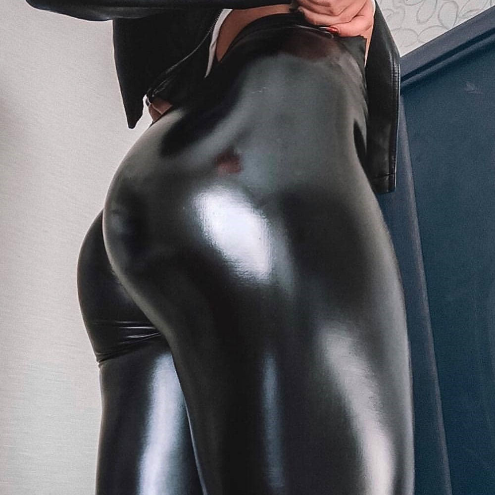 New Autumn Faux Leather Push Up   Leggings   2019 Fashion Sexy Add wool Black   Leggings   Calzas Mujer Leggins Stretchy Plus Size Pants