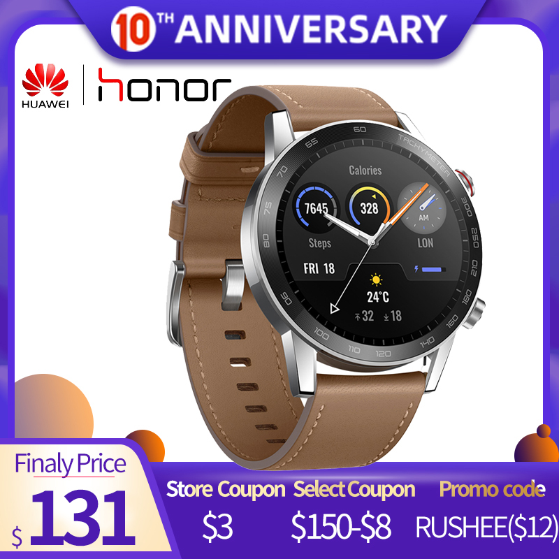 Global Version Honor Magic Watch 2 46MM Minos 5ATM GPS Smartwatch Men 1.39'' 14 Sports Modes Touch Screen For Xiaomi Android IOS