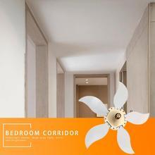 Складной светодиодный светильник для гаража 75 Вт E27 регулируемый угол лопасти вентилятора энергосберегающая лампа Низкое энергопотребление высокая яркость