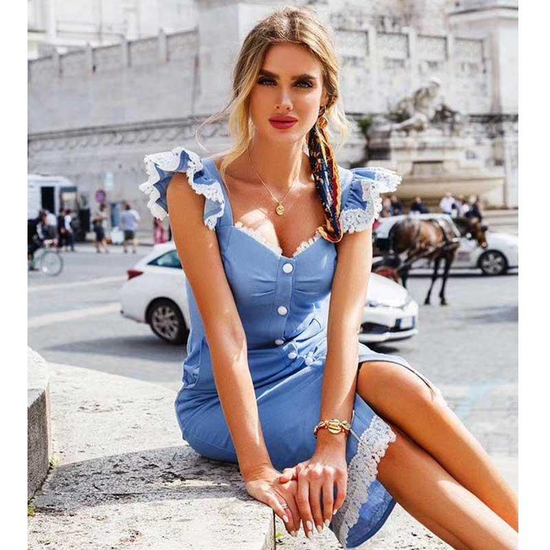 wholesale 2020 Newest Women dress multiple colour Stretch knit fashion sexy Celebrity Cocktail party bandage dress